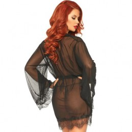 LEG AVENUE SHEER ROBE LACE...